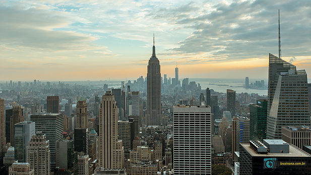 Vistas de New York: Empire State, World Trade Center e Top Of The Rock